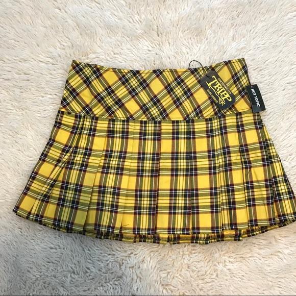 0f0c191d31 Hot Topic Skirts | Tripp Nyc Yellow Plaid Skirt Plus Size 0 | Poshmark